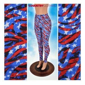 d7a140edf6ab4 coquetry Clothing. BNWT Coquetry Clothing Americana leggings